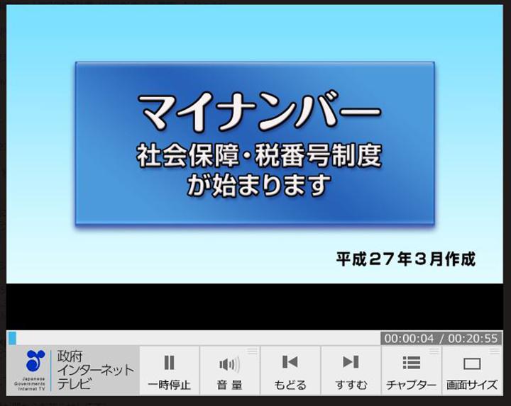 図1:内閣官房サイトにはマイナンバーに関する動画がたくさんアップされている