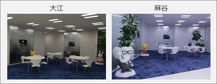 オフィスや不動産物件の紹介写真の例です。できるだけ広く、かつ部屋の雰囲気を見せるのがポイントです。