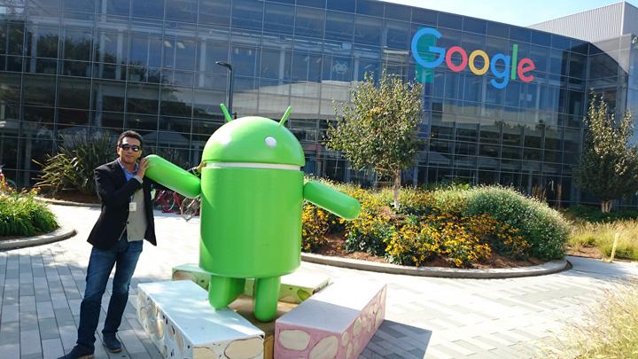 米Google本社を訪れる樋口社長