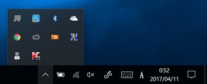 標準のままだと表示されていないので、状態を確認しづらく、機能にアクセスしにくい場合も。表示する項目を見直して使いやすくできるが、Windows 7より分かりづらい面がある