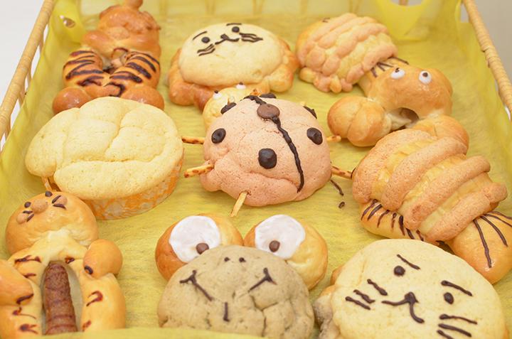 夏休み親子教室で子どもたちが作ったパンたち
