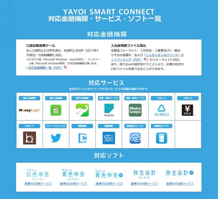 Staple for 弥生は、YAYOI SMART CONNECTの1つとして利用できる