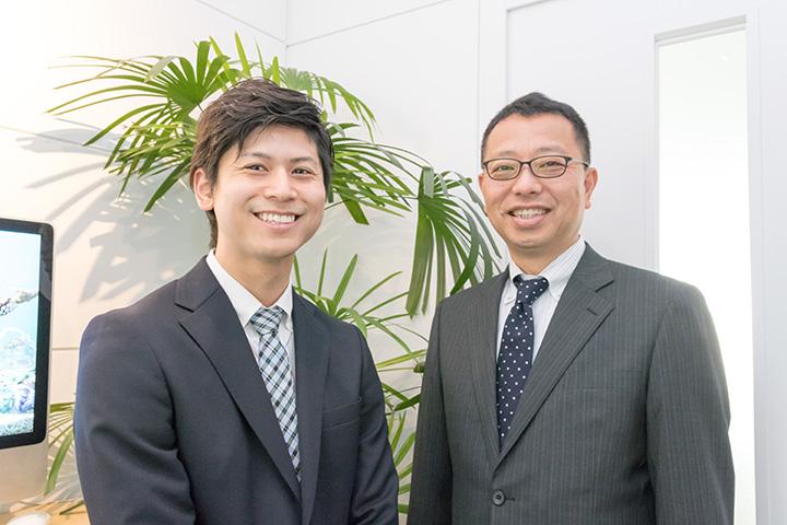 お話を伺った方:丸尾 優介氏(左)、新坂 満氏(右)