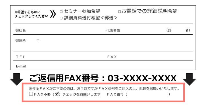 FAX送信停止依頼分の例