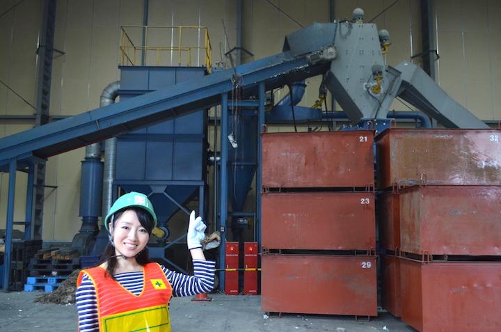 1日30トン強の金属くずを処理できる「リングシュレッダー」